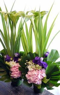 八回忌に。一対で。平岸1条にお届け。2017/05/31。 - 札幌 花屋 meLL flowers