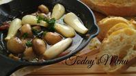 らっきょうのアヒージョ - 料理研究家ブログ行長万里  日本全国 美味しい話