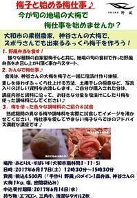 「第三回 梅子と始める大梅仕事♪」開催いたします! - 手作り弁当 野風