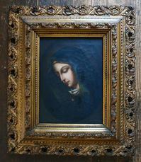 悲しみの聖母マリア 肖像画 署名あり   /485 - Glicinia 古道具店