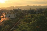 夕陽色に包まれて - ゆる鉄旅情
