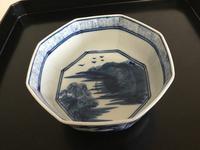有田焼アンティーク  八角鉢 - 大正から昭和の器