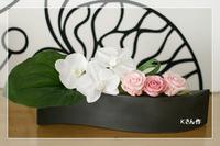 胡蝶蘭&ベビーシューズアレンジ* レッスン - Flower letters