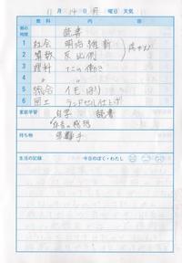11月14日 - なおちゃんの今日はどんな日?