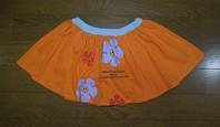 178.オレンジ色のスカート(再リメイク) - フリルの子供服