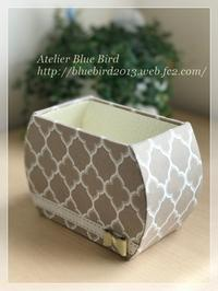 モロッカン柄で小物入れ出来ました♪ - ☆Blue Bird☆cartonnageからの贈り物