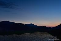 田圃のなかの宙:1:夜明け前 - walk with my Camera