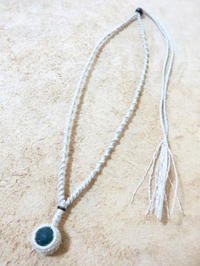 【マクラメ&ヘンプ】#124 シーグラスのネックレス - Shop Gramali Rabiya (SGR)
