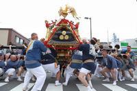神輿を地面すれすれまで左右交互に倒し振り合う、都内でも珍しい神輿振り(荒川区、素戔嗚神社の天王祭) - 旅プラスの日記