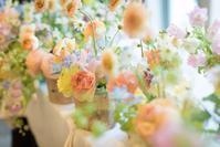 新郎新婦様からのメール 春の装花 FEU様へ 1 春の幸せな一日へ - 一会 ウエディングの花
