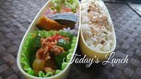 夏野菜と豚肉のスパイス炒め弁当 - 料理研究家ブログ行長万里  日本全国 美味しい話
