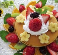 フルーツもりもりパンケーキ♡♡♡ - nanako*sweets-cafe♪