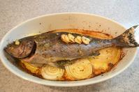 いさきのオーブン焼き/あさりの白ワイン蒸し/キャベツのサラダ - まほろば日記