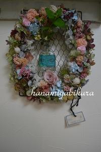 アンティークっぽい、オーバルリース - 好きな物に囲まれて* お花とお茶と楽しい時間 *