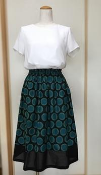 〇〇模様のギャザースカート完成でふ♪ - 新生・gogoワテは行く!