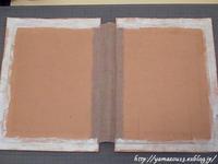 自宅使い 用箋はさみに樹皮を貼る - ロシアから白樺細工