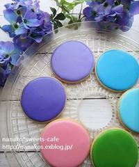紫陽花カラーのアイシングクッキー*紫陽花咲き始めました - nanako*sweets-cafe♪