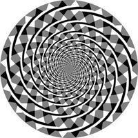 これ、うず巻きじゃないんだって!信じられない錯視の円。 - キワモノほーるいんワンコ