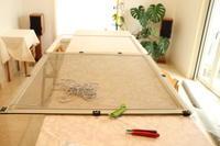 デッキの塗装、出窓の網戸の張替え、寝室のカーテン作り - クレッセント日記