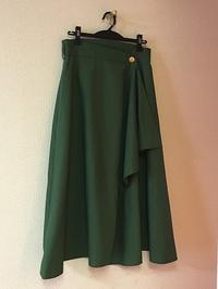 リボン付きフレアーラップスカート - むらさきのいと