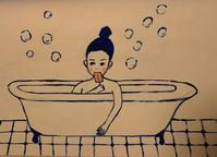 お風呂アイス - たなかきょおこ-旅する絵描きの絵日記/Kyoko Tanaka Illustrated Diary
