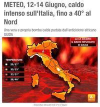 """""""ゲッ!40℃の猛暑?!アフリカ性熱帯高気圧、再び"""" ~ イタリア・ローマのお天気♪ ~ - ROMA  - PhotoBlog"""