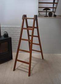 オーク材の脚立 ラダー - フランス古道具 ウブダシ