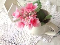 布花のがくあじさい - handmade flower maya