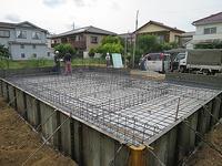 横浜M邸配筋検査+打設 - i+i