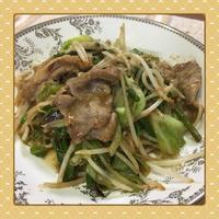 豚肉・キャベツ・もやしの簡単&サッパリ胡麻ポン炒め - kajuの■今日のお料理・簡単レシピ■
