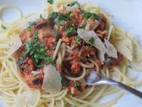 ツナとトマト缶のパスタ&野生動物 - やせっぽちソプラノのキッチン2