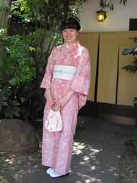 爽やかに、ピンクのお着物で。 - 京都嵐山 着物レンタル&着付け「遊月」