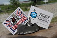 ショップのカード。 - vespa専門店 K.B.SCOOTERS ベスパの修理やらパーツやらツーリングやらあれやこれやと