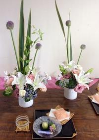 紫陽花いっぱいフラワーアレンジレッスン💕 - coco diary 山口県 お花と絵とテーブルコーディネートレッスン