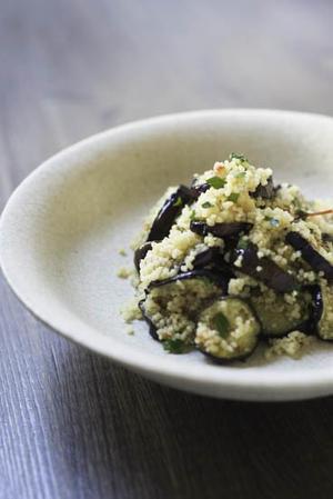 茄子とクスクスのサラダとジューンベリーサワードリンク - 食卓の風・・・