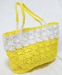 サマーバッグ黄色(鈎針) - 日々綴り