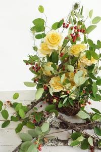 ジューンベリーのコンポジション - お花に囲まれて