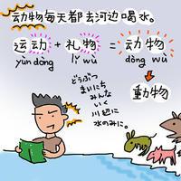 どうぶつまいにちみんないく川辺に水のみに - 40代おっさんの中国語学習奮闘記