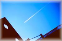 ヒコーキ雲 - みなかわ写瞬間