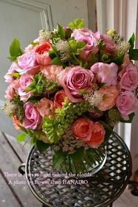お誕生日に贈る花束♪ピンクmix - 花色~あなたの好きなお花屋さんになりたい~