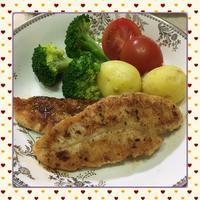ダイエットに・・・鶏ささ身のムニエル - kajuの■今日のお料理・簡単レシピ■