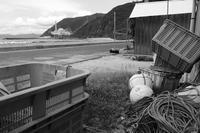 「もんじゅ」を望む漁港 * - 父ちゃん坊やの普通の写真その2