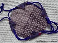 菱刺しの布を仕立てる - ロシアから白樺細工