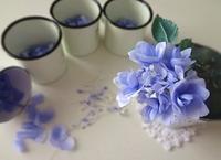 青いあじさい - handmade flower maya