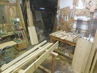 壁面収納 加工中 何日目かな。 - 手作り家具工房の記録