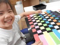 色を織り込んで・・動いた! - キッズクラフト子ども絵画造形教室・大阪市淀川区と豊中・箕面