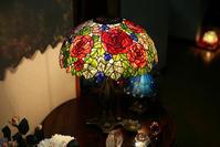 過去作から 薔薇と葡萄のランプ - ステンドグラスルーチェの日常