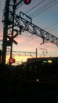 本日の夕焼け - 京都ときどき沖縄ところにより気まぐれ