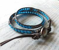 ホワイトハーツ ブルーのラップブレス - BLUE BLUE