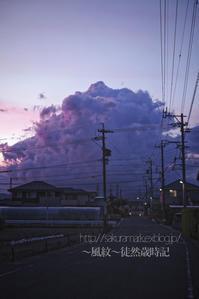 夕闇の中の積乱雲。 - ~風紋~徒然歳時記
